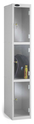 Probe 3 Door Polycarbonate Retail Security Locker