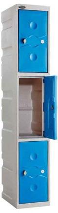 3-Door-Water-Resistant-Plastic-Locker