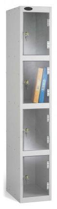 Probe 4 Door Polycarbonate Retail Security Locker