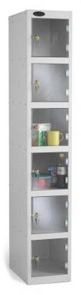 Probe 6 Door Polycarbonate Retail Security Locker