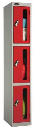 Probe 3 Door Vision Panel Retail Security Locker