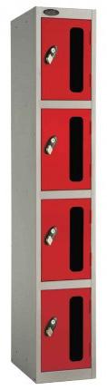Probe 4 Door Vision Panel Retail Security Locker