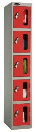 Probe 5 Door Vision Panel Retail Security Locker