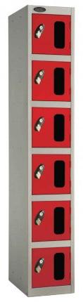 Probe 6 Door Vision Panel Retail Security Locker