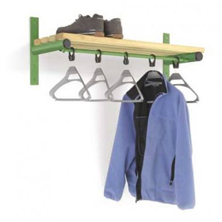 Probe Cloakroom Coat Hanging Wall Unit