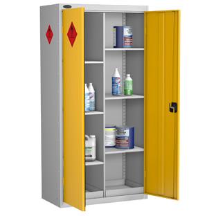 Probe High 8 Compartment Hazardous Substance Cabinet